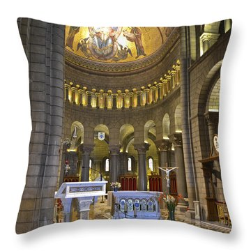 Throw Pillow featuring the photograph Monaco Cathedral by Allen Sheffield