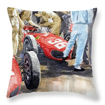 Monaco Gp 1961 Ferrari 156 Sharknose Richie Ginther Throw Pillow by Yuriy Shevchuk
