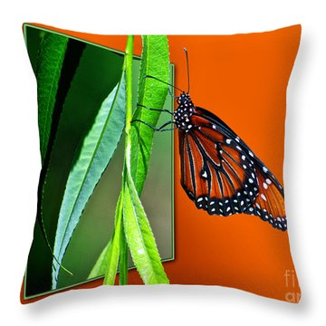 Monarch Butterfly 01 Throw Pillow by Thomas Woolworth