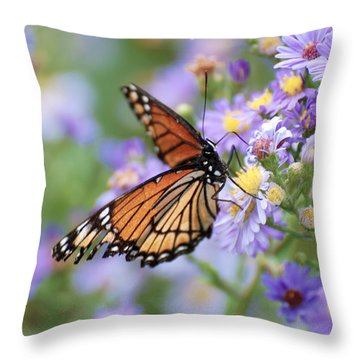 Monarch Butterfly 3 Throw Pillow