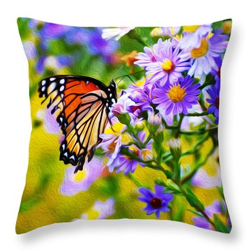Monarch Butterfly 4 Throw Pillow