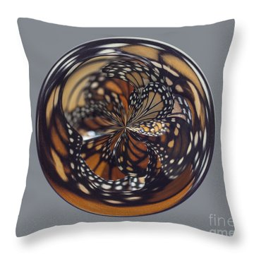 Monarch Butterfly Abstract Throw Pillow by Darleen Stry