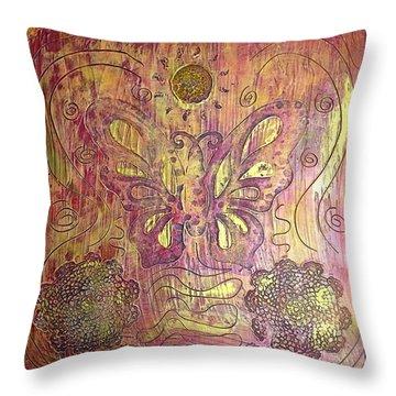 Monarch Butterfly By Alfredo Garcia Throw Pillow