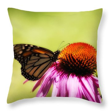 Monarch Glow Throw Pillow