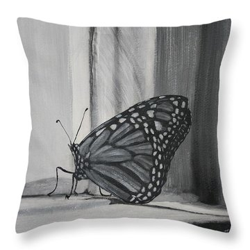 Monarch In The Window Throw Pillow