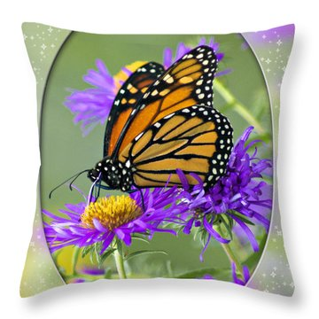 Monarch On Astor Throw Pillow