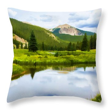 Monarch Pass Beaver Ponds Throw Pillow