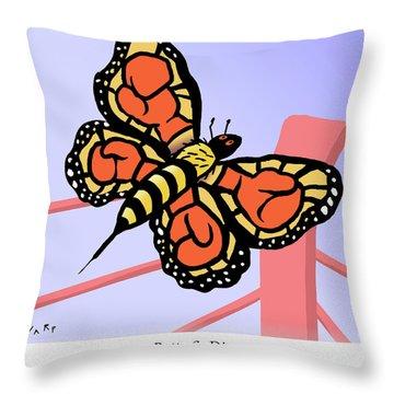 Monarch Stingingus-greaticus Throw Pillow