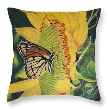 Monarch Summer Throw Pillow