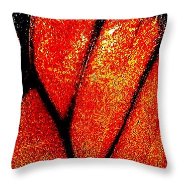 Monarch Wing Throw Pillow