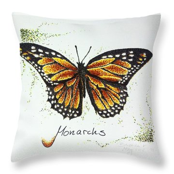 Monarchs - Butterfly Throw Pillow