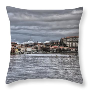 Monastery From The River Throw Pillow