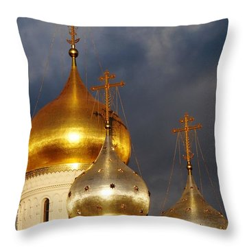 Throw Pillow featuring the photograph Monastery by Julia Ivanovna Willhite