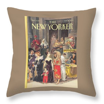 Monday At The Met Throw Pillow