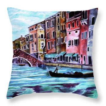 Monday In Venice Throw Pillow