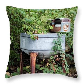 Monday Is Laundry Day Throw Pillow