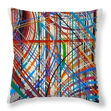 Throw Pillow featuring the painting Monday Morning by Alan Johnson