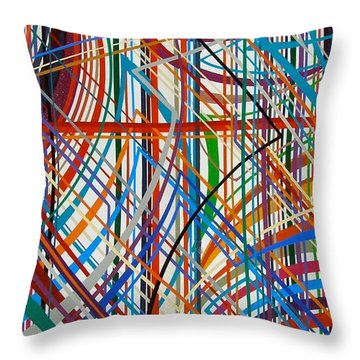 Monday Morning Throw Pillow