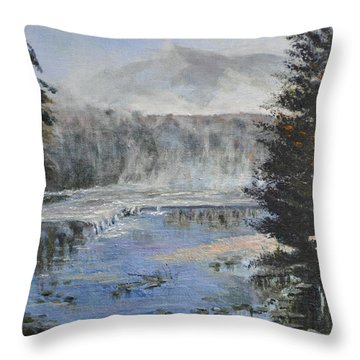 Monday Morning Fog Throw Pillow by Dottie Branchreeves