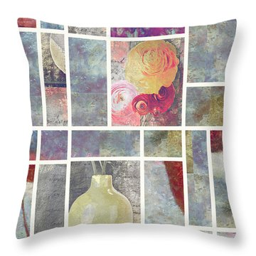 Mondrianity - 08a Throw Pillow by Variance Collections
