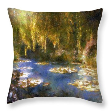 Monet After Midnight Throw Pillow