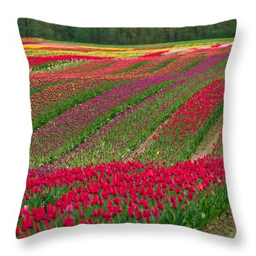 Monet Alive Throw Pillow by Eti Reid