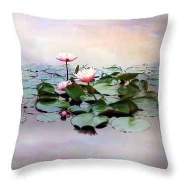 Monet Lilies  Throw Pillow