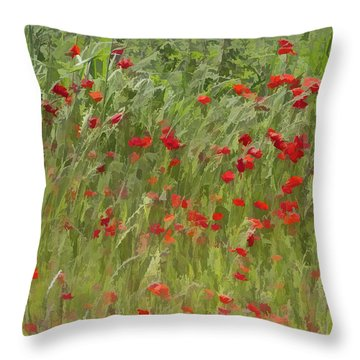 Monet Poppies IIi Throw Pillow
