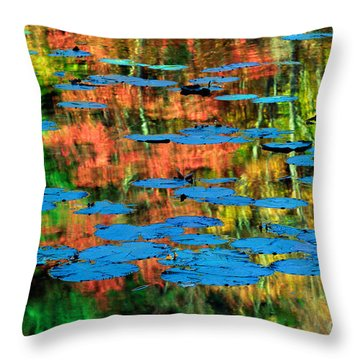 Monet Reflection Throw Pillow by Inge Johnsson