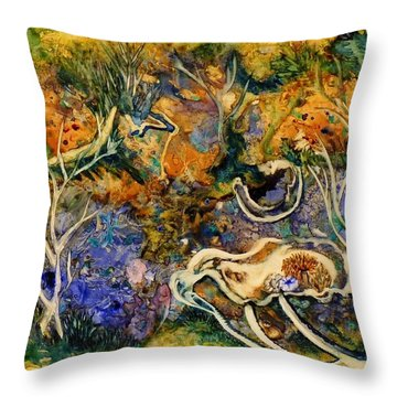 Monet Under Water Throw Pillow