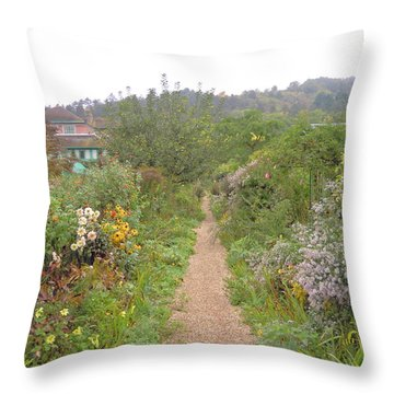Monet's Garden 5 Throw Pillow by Ellen Meakin