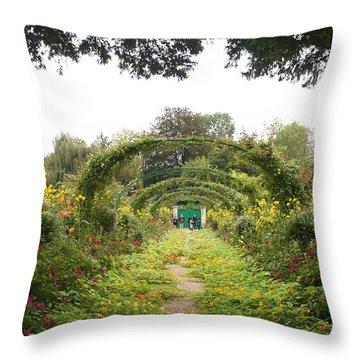 Monet's Garden Giverny Throw Pillow