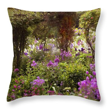 Monet's Garden - Impression Throw Pillow