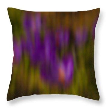 Throw Pillow featuring the photograph Monet's Garden by Sandi Mikuse