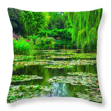 Monet's Lily Pond Throw Pillow