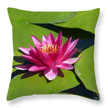 Monet's Waterlily Throw Pillow