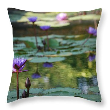 Monet's Waterlily Pond Number Two Throw Pillow by Heather Kirk