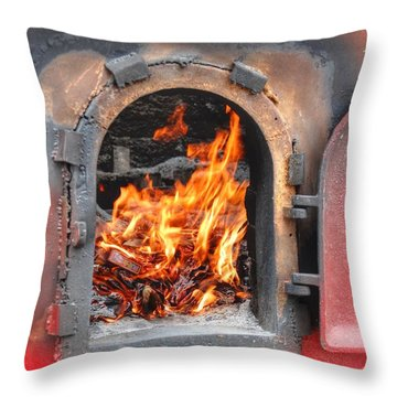 Money 2 Burn Throw Pillow