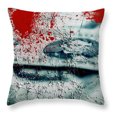Money And Blood Throw Pillow