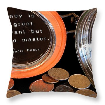 Money - The Bad Master Throw Pillow