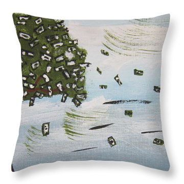 The Money Tree Throw Pillow