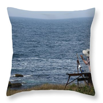 Monhegan Artist Throw Pillow