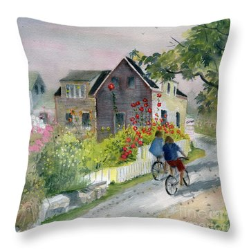 Monhegan In August Throw Pillow