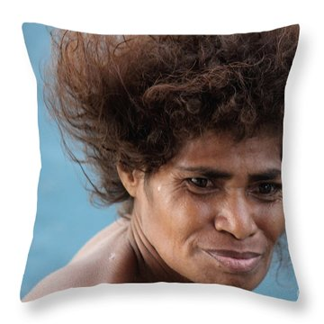Monica From Papua New Guinea Throw Pillow
