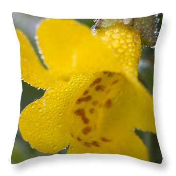 Throw Pillow featuring the photograph Monkey In Yellow by Sonya Lang