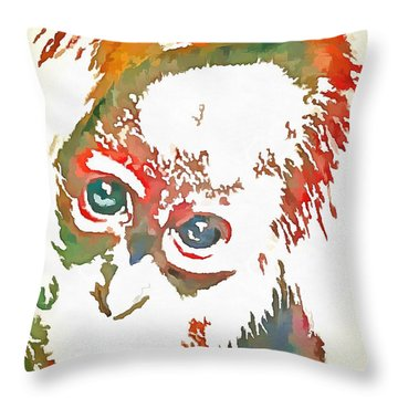 Monkey Pop Art Throw Pillow