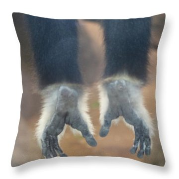 Monkeying Around  Throw Pillow