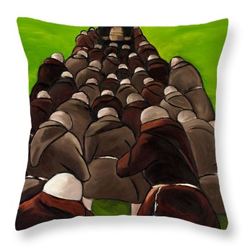 Monks Funeral Throw Pillow by William Cain