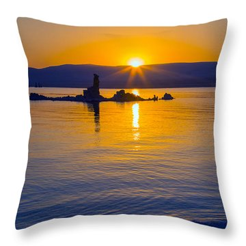 Mono Lake Sunrise Throw Pillow