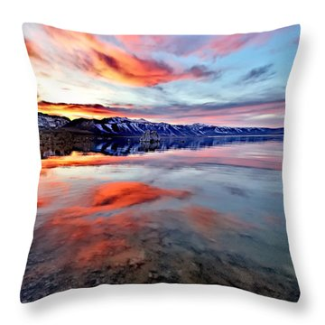 Mono Lake Sunset 2 Throw Pillow